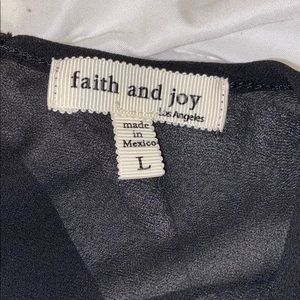 Faith and Joy Tops - Faith and Joy Leopard and Sheer Lace Top Sz L